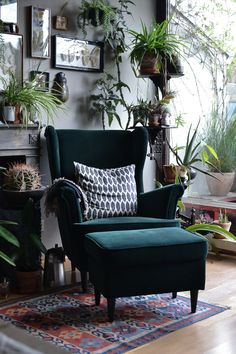Journey home: Bohemian Interior in Munich - armchair ♡ living clothes - . - Journey home: Bohemian Interior in Munich – armchair ♡ living clothes – trip - Home Design, Home Interior Design, Interior Styling, Luxury Interior, Contemporary Interior, Room Interior, Bohemian Interior Design, Design Ideas, Interior Plants