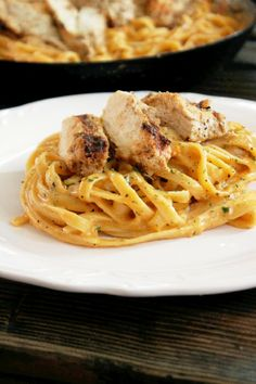 Grilled Greek Chicken Alfredo