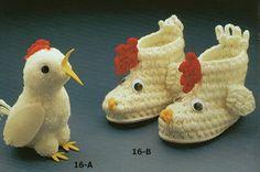 Botitas Infantiles de Crochet - Patrones Crochet