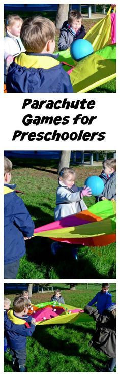 Parachute games for preschoolers #LearningIsFun