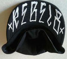 e6d16dfbdf6 New Era Rebel8 Cap Hat Flat Bill Spell Out 7 1 2 Fitted Wool Black