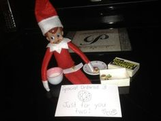 Elf on a Shelf with donuts