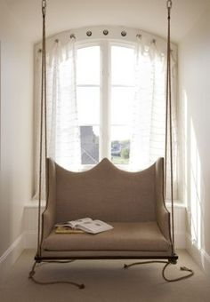 Sofa columpio decoracion living room decoration Upcycled relax confort indoor swing