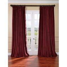 Shop for Exclusive Fabrics Burgundy Velvet Blackout Extra Wide Curtain Panel. Get free delivery On EVERYTHING* Overstock - Your Online Home Decor Outlet Store! Get in rewards with Club O! Red Velvet Curtains, Wide Window Curtains, Curtains Living Room, Blackout Curtains, Velvet Curtains, Curtains, Extra Wide Curtains, Burgundy Curtains, Wide Windows