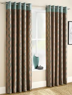 Incredible discounts & savings on eyelet curtains. We offer a wide range of affordable eyelet & tab top curtains. Teal Curtains, Faux Silk Curtains, Cute Curtains, Tab Top Curtains, How To Make Curtains, Country Curtains, Kitchen Family Rooms, Home Renovation, Home Improvement