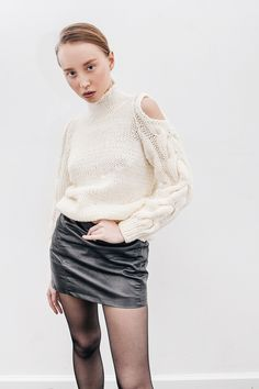 ivory knitted sweater
