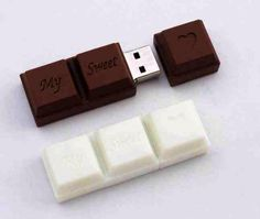 Chocolate USB Flash Drive Unusual flash memory stick designed to look like a ch. Pen Drive Usb, Usb Flash Drive, Funny Gifts For Women, Accessoires Iphone, Usb Stick, Cute School Supplies, Cool Inventions, Cool Things To Buy, Stuff To Buy