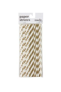 Gold and White Straws (Typo)