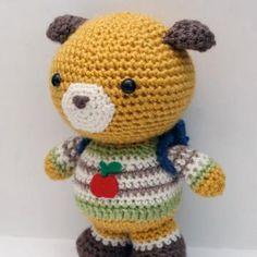Fuji Bear amigurumi crochet pattern by Little Muggles