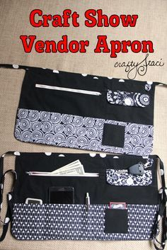 Craft Show Vendor Apron Tutorial and PDF pattern from Crafty Staci