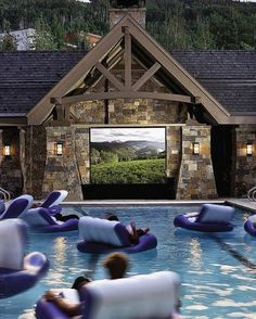 @Stephanie Close Close Close Close Lewis  we could even watch movies Swimming-Pool Movie Theater