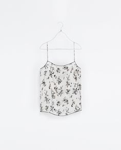 TOP LENCERO PUNTILLAS - Camisas - Mujer | ZARA España, Agosto 2013