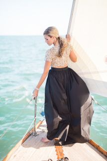 Glam sailing engagement-sesh: http://www.stylemepretty.com/florida-weddings/coral-gables/2015/08/25/glamour-sailing-engagement-in-miami/   Photography: http://hunterryanphoto.com/