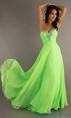 Long Flowing Strapless Sweetheart Gown at SimplyDresses.com