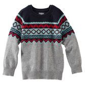 Soft yarn and a Fair Isle pattern make this sweater a classy and comfortable cold-weather layer.
