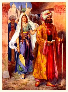 :::: ✿⊱╮☼ ☾  PINTEREST.COM christiancross ☀❤•♥•* ::::   Arabian Nights  Harry G. Theaker