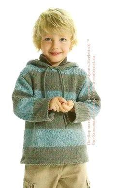 Пуловер с капюшоном для мальчика ...от Phildar (Франция)