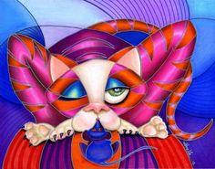 Art: Hello Kitty (sold) by Artist Alma Lee