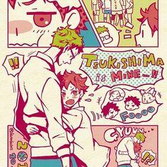 Tsukishima x Hinata