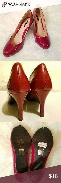 Forever 21 Red Heels Forever 21 red (wine) heels. Never been worn, still has tags on the bottom. BRAND NEW condition.  Feel free to make an offer or ask any questions! Forever 21 Shoes Heels