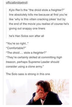 the solo family sass. << Excuse the spelling errors and misquoting but it's true!<<<There's no misquoting though