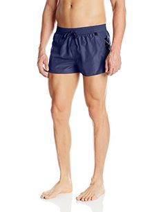 Diesel Mens Sandy 2 Inch Quick Dry Fold and Go Swim Trunk NavyBlue Large * Locate the offer simply by clicking the image
