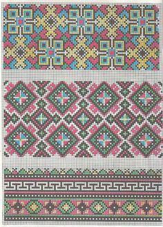 ru / Фото - 155 Symbols of Ancient Ukrainian Stitching - thabiti Cross Stitch Borders, Cross Stitching, Cross Stitch Embroidery, Cross Stitch Patterns, Needlepoint Patterns, Embroidery Patterns, Rainbow Blocks, Border Pattern, Chart Design