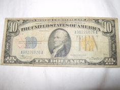 1934 A North Africa $10 Silver Certificate Yellow Seal WWII Emergency Issue