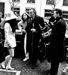 Salvador Dali, John Lennon and Yokko in New York