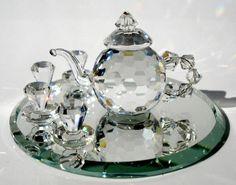 Tea Set made with Swarovski Crystal por BJCRYSTALGIFTS en Etsy