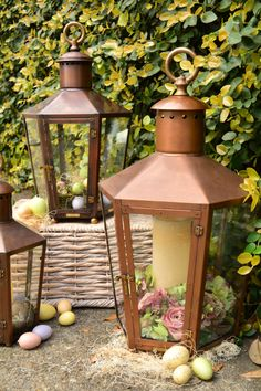 Flowers are starting to bloom! Bevolo Pool House Lanterns ready for spring and Easter. #lanterns