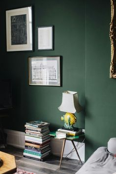 I Want A Dark Green Wall Dark Green Roomsgreen Bedroomsdark Interiorsliving Room Colorswall