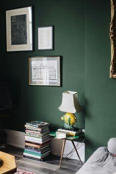 I want a dark green wall