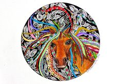 """Well sometimes when you look in the mirror you just don't look like you thought you did! This Picture is called """"Today I was a horse"""" I just love the expression on the horses face. sometimes its good to put a bit of humour into art Horse Face, Look In The Mirror, Just Love, Evans, Thinking Of You, My Arts, Behance, Horses, Drawings"""