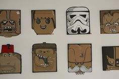 This is the kind of recycling I can get behind. - 100 Cardboard Project by Berni Valenta