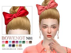 Bowknot for female  sims, you can find it in hats, 15 colors inside.  Found in TSR Category 'Sims 4 Female Hats'