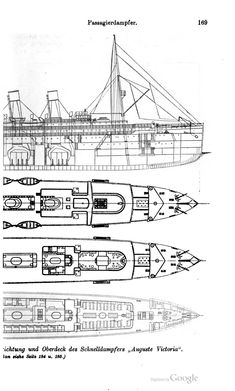 Arrangement of Steam Pipes in RMS Queen Mary Forward and