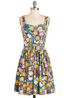 The D'oh Happy Dress Sneaks Hello Kitty In With The Simpsons Read more at http://fashionablygeek.com/approved-products/doh-happy-dress/#lBRZhq1EOW9B4E6H.99