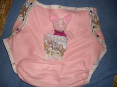 Diaper Cover Disney Pink Piglet AB/DL Nappy Supple Plastic Pants X-Large Adult  #Handmade
