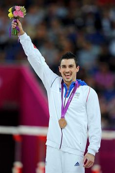 French Gymnast Hamilton Sabot won bronze medal on the high bar