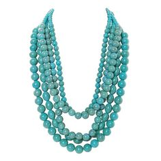 Humble Chic NY Mongolian Turquoise Necklace ($48) ❤ liked on Polyvore featuring jewelry, necklaces, turquoise, accessories, turquoise jewelry, bubble necklace, turquoise strand necklace, bauble necklace and strand necklace
