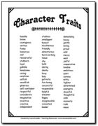 Character Trait List to use when analyzing characters.and other literature circle printables Reading Resources, Reading Strategies, Reading Activities, Reading Skills, Teaching Reading, Reading Comprehension, Teaching Ideas, Teaching Tools, Teaching Time