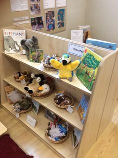 Puppets Available to the children with Books Eyfs Classroom, Classroom Layout, Classroom Organisation, Classroom Ideas, Preschool Centers, Preschool Learning Activities, Toddler Activities, Preschool Ideas, Book Area