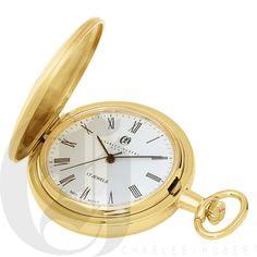 Gold-Plated Hunter Case Mechanical Pocket Watch