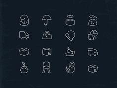 16 Logistic Icons by Lavinia Lorena