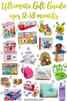 gift ideas for one year olds and toddlers, baby gift ideas, gift guide