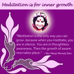 Why should we meditate? For self growth - Inner Self.