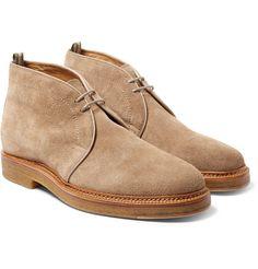Officine Creative Desert Boot men suede beige crepe sole.