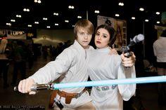 Luke Skywalker and Princess Leia Organa #Comikaze 2015