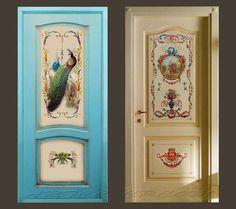 Художественная роспись межкомнатной двери